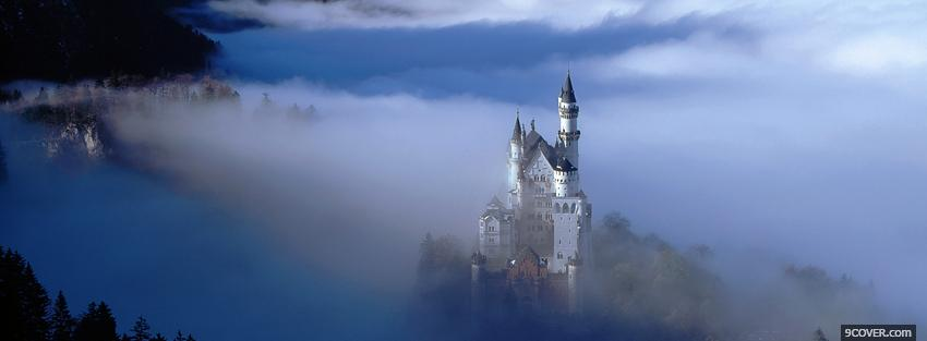 Photo mist skies and castle Facebook Cover for Free