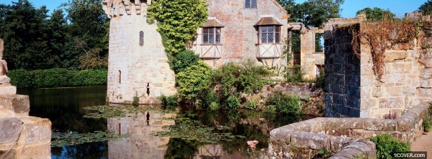 Photo scotney castle Facebook Cover for Free