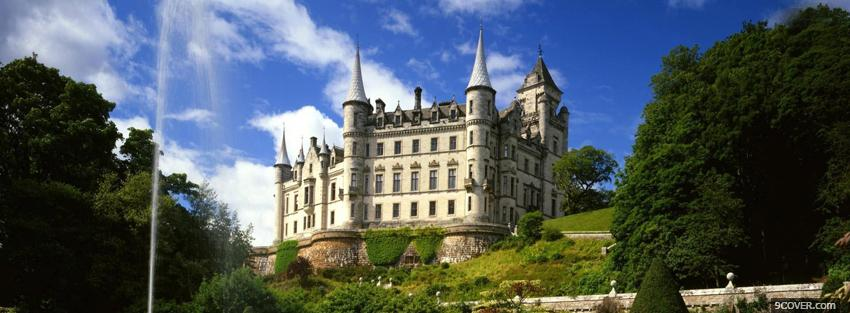 Photo dunrobin castle Facebook Cover for Free