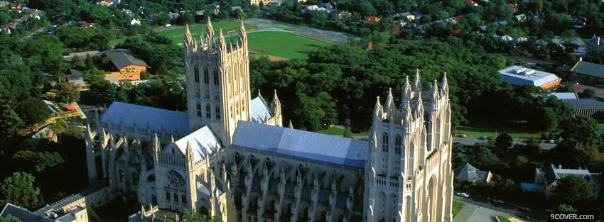 Photo washington national cathedral castle Facebook Cover for Free