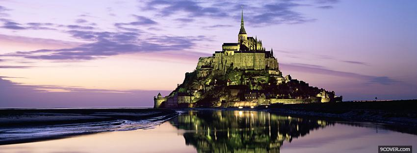 Photo mont saint michel castle Facebook Cover for Free