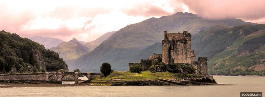 Scottish Eilean Donan Castle Photo Facebook Cover