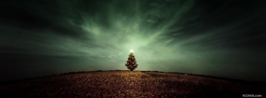 Amazing Christmas Tree Photo Facebook Cover