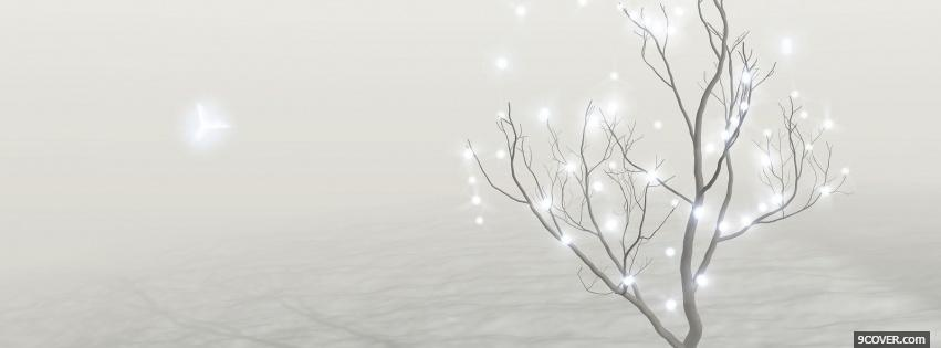 Photo christmas winter day Facebook Cover for Free