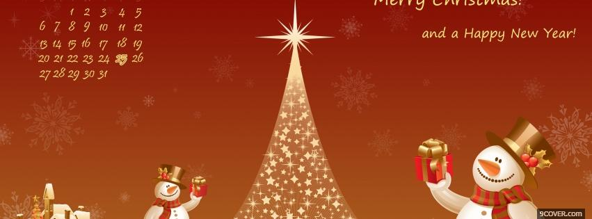 Photo special christmas tree Facebook Cover for Free