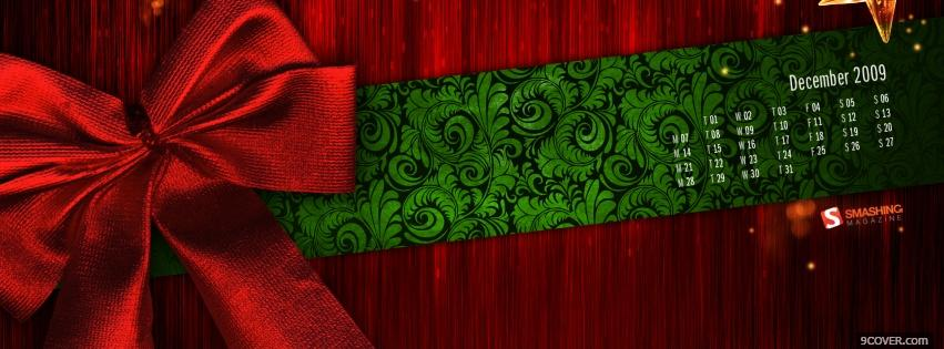 Photo christmas wrapping Facebook Cover for Free