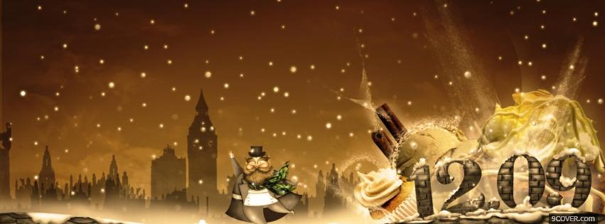 Photo christmast deserts Facebook Cover for Free