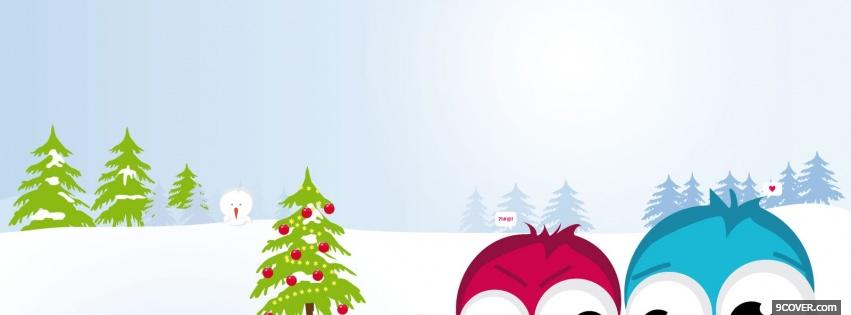 Photo adorable christmas Facebook Cover for Free