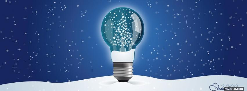 Photo christmas light bulb Facebook Cover for Free