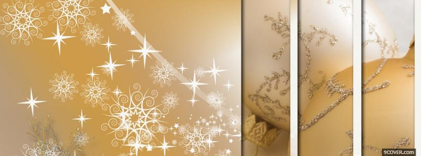 Photo sparkles and christmas Facebook Cover for Free