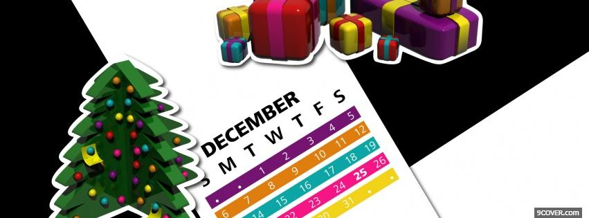 Photo december and gifts Facebook Cover for Free