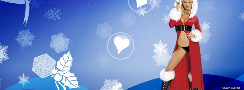 Photo sexy for christmas Facebook Cover for Free