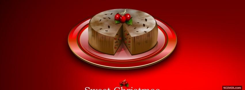 Photo sweet tasty christmas Facebook Cover for Free