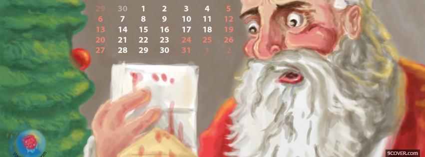 Photo surprised santa claus Facebook Cover for Free