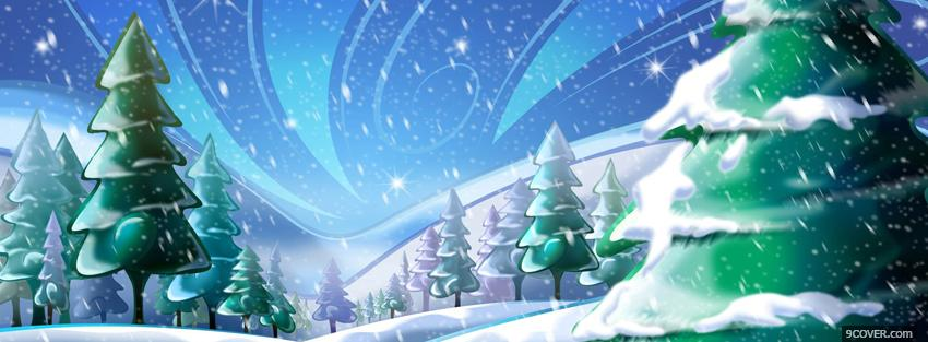 Photo winter wonderland christmas Facebook Cover for Free