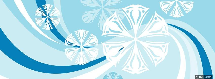 Photo baby blue winter christmas Facebook Cover for Free