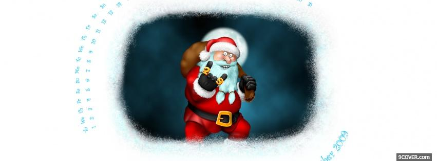 Photo santa claus rocker sign Facebook Cover for Free