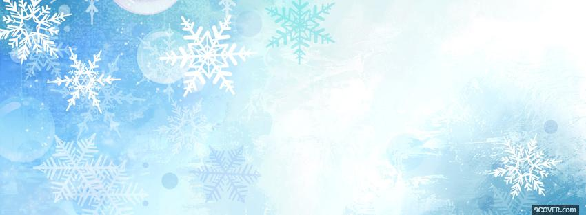 Photo winter snowflakes christmas Facebook Cover for Free