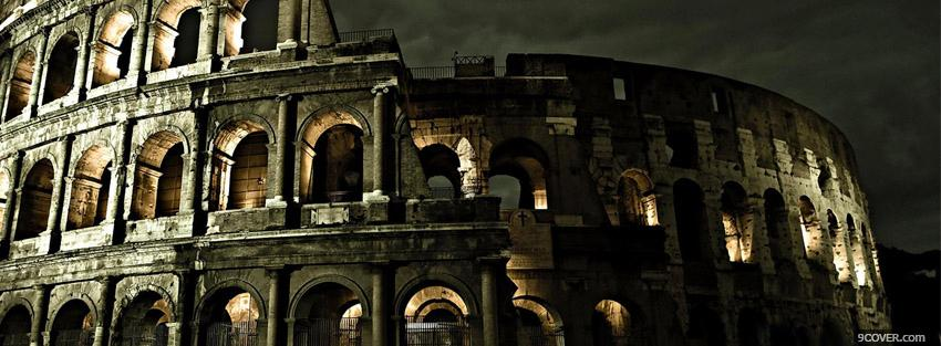 Photo colosseum Facebook Cover for Free