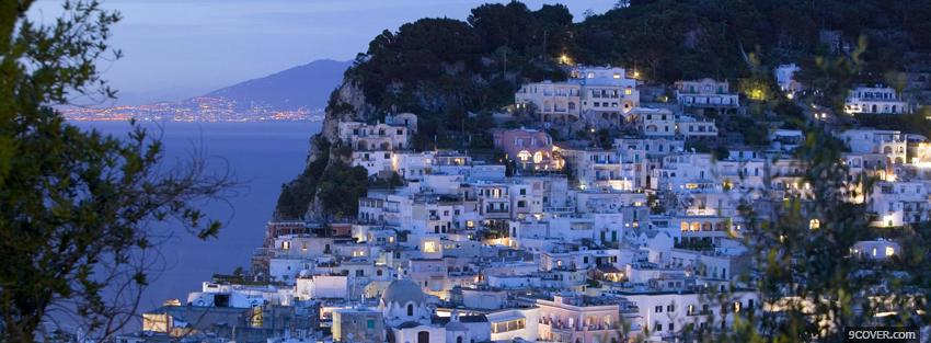 Photo capri italy city Facebook Cover for Free