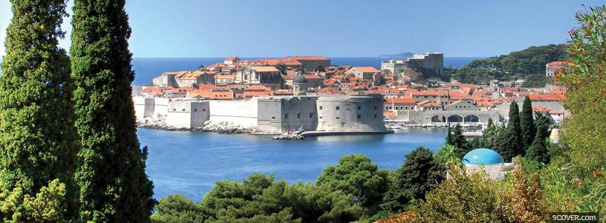 Photo dubrovnik city Facebook Cover for Free