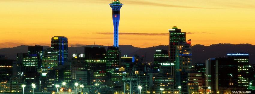 Photo auckland new zealand city Facebook Cover for Free