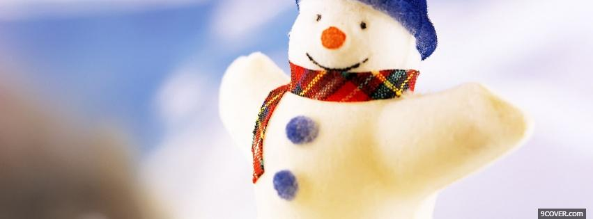 Photo little cute snowman Facebook Cover for Free