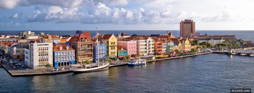 Photo curacao city Facebook Cover for Free