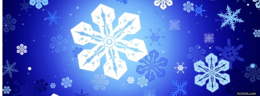 Photo pretty snowflakes christmas Facebook Cover for Free