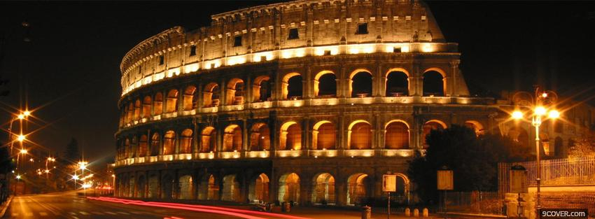 Photo colosseum in italy Facebook Cover for Free