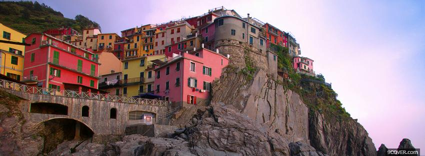 Photo buildings city in italy Facebook Cover for Free