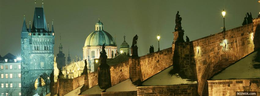 Photo charles bridge prague Facebook Cover for Free