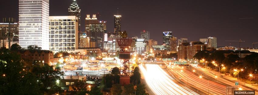 Photo atlanta lights city Facebook Cover for Free