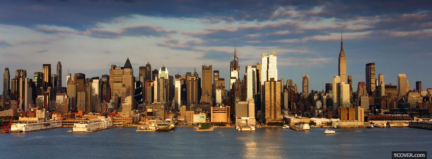 Photo buildings new york city Facebook Cover for Free