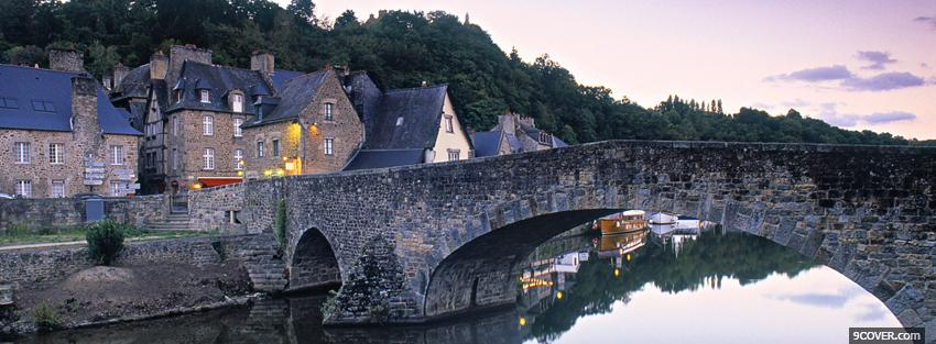 Photo bretagne france city Facebook Cover for Free