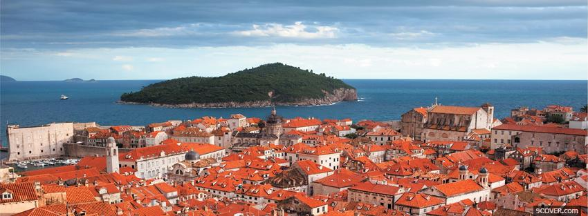 Photo dubrovnik old city Facebook Cover for Free