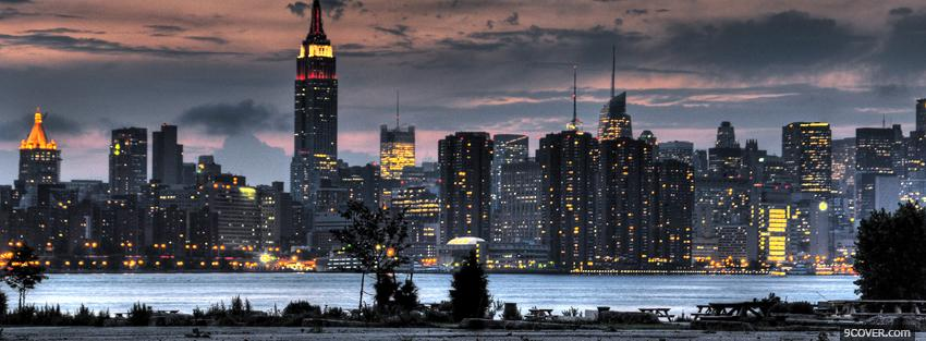 Photo empire state building city Facebook Cover for Free