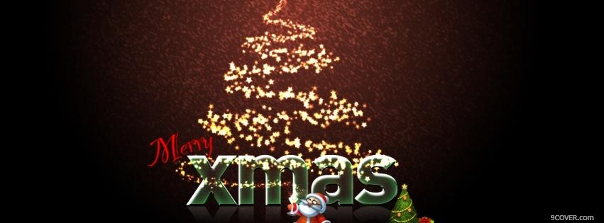 Photo merry xmas Facebook Cover for Free