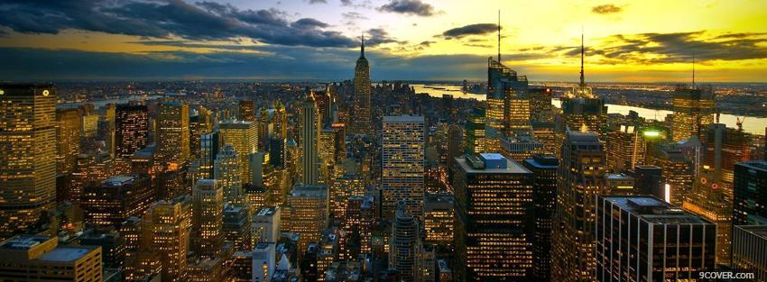 Photo colors of new york city Facebook Cover for Free