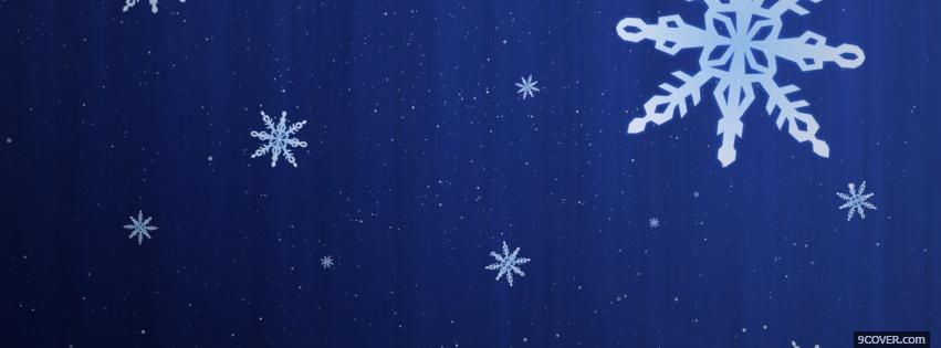 Photo magical snowflakes Facebook Cover for Free
