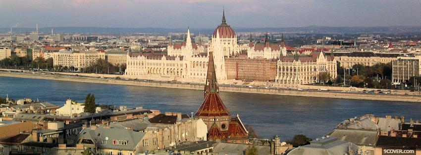 Photo city budapest Facebook Cover for Free