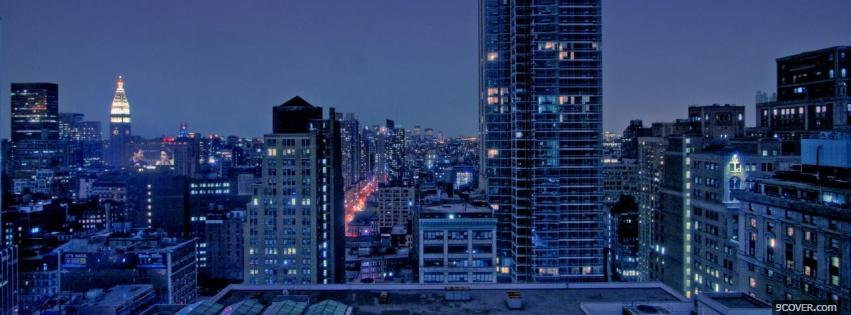 Photo city of manhattan Facebook Cover for Free