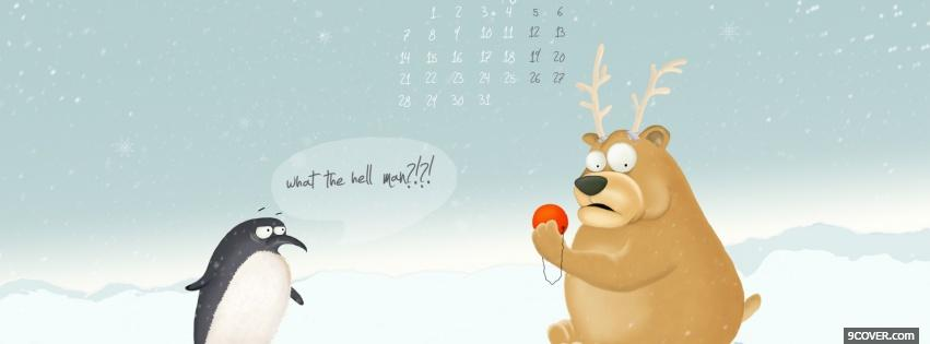 Download Free Funny Penguin Christmas Fb Cover