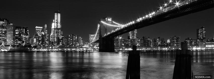 Photo new york city at night Facebook Cover for Free