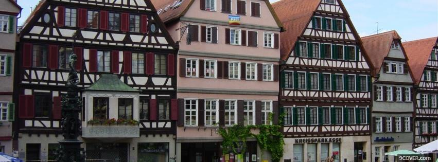 Photo german architecture city Facebook Cover for Free