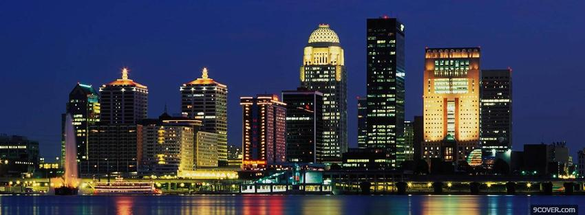 Photo louisville city skyline Facebook Cover for Free