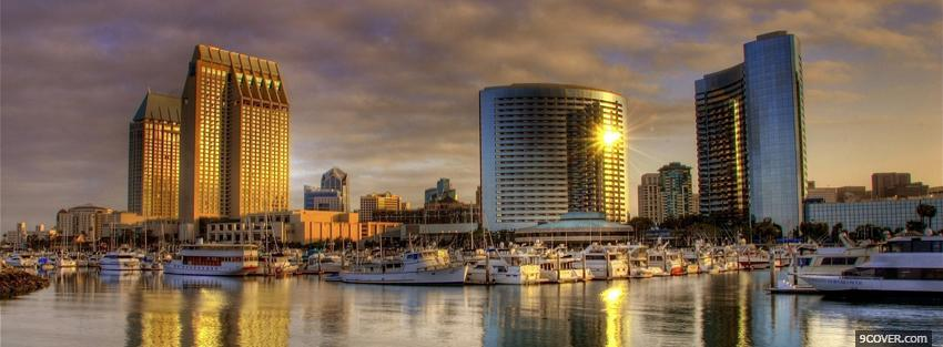 Photo san diego city Facebook Cover for Free