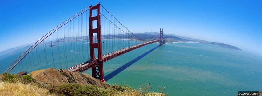 Photo view golden gate bridge Facebook Cover for Free