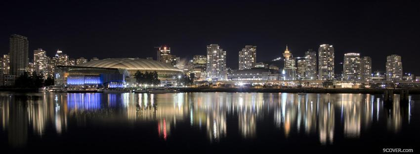 Photo vancouver cityscape  Facebook Cover for Free