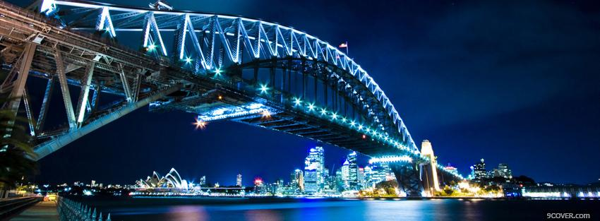 Photo harbour bridge sydney city Facebook Cover for Free
